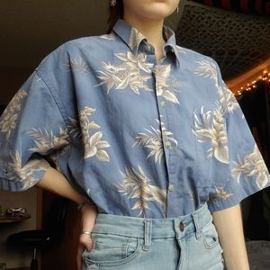80s 90s vintage hawaiian buttondown shirt XL